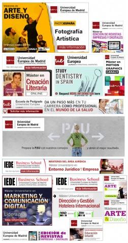 Banners flash, campañas de display, producción de creatividades online