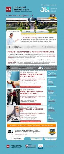 Diseño y Desarrollo de la newsletter para la campaña online de emailings para la universidad europea