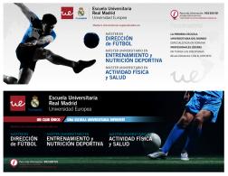 Banner para la Escuela Universitaria Real Madrid que se diseña para promocionar las titulaciones en su web